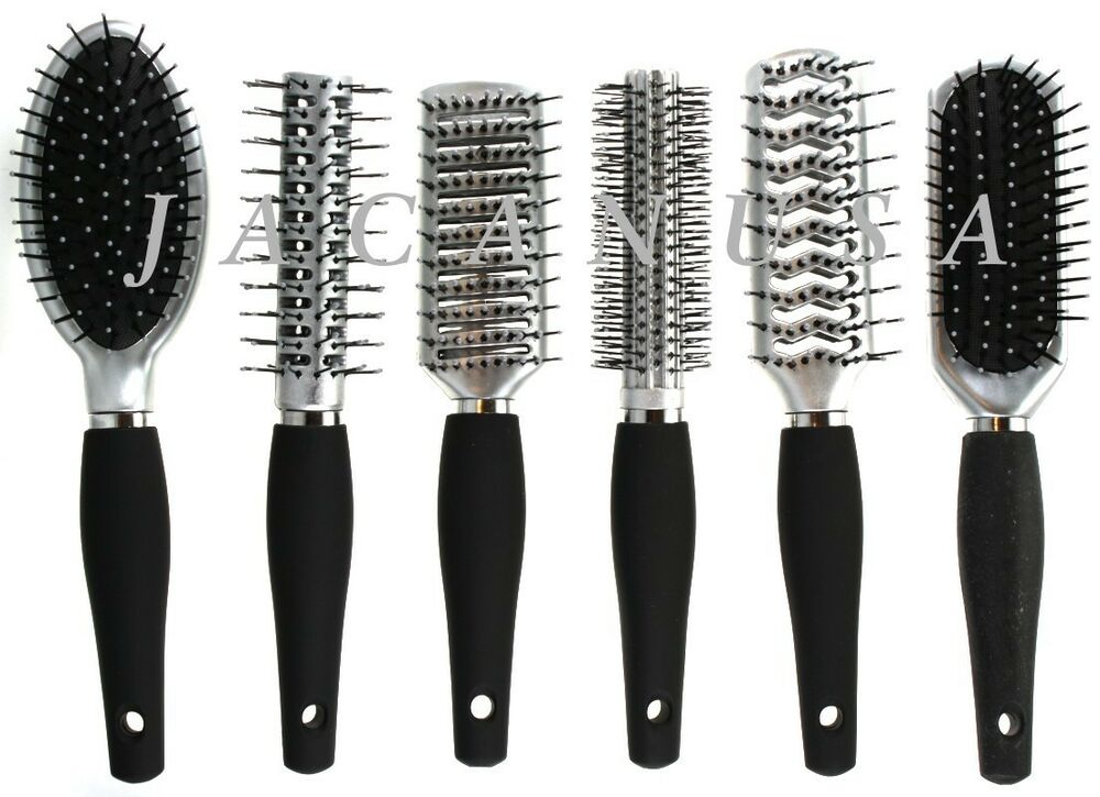 New style salon hair brush flat narrow round vented for for Salon hair brushes