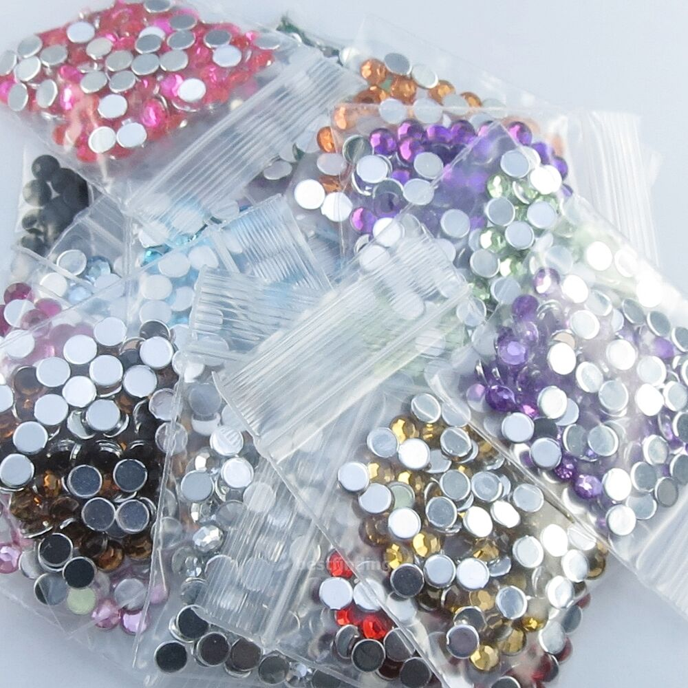 20 colors flat back acrylic rhinestones 6mm gems craft for Rhinestone jewels for crafts