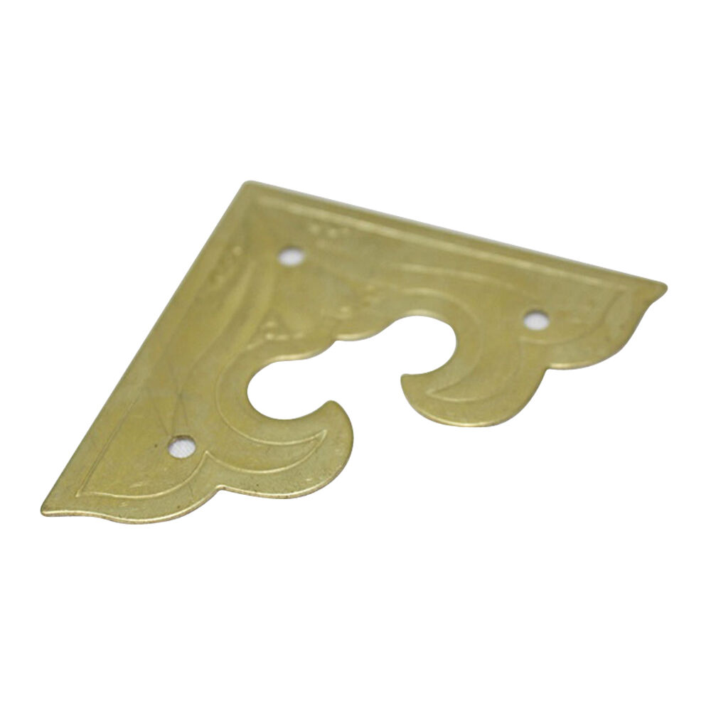 Decorative Box Corner Brass Plated : Pack of brass mm table furniture decor square
