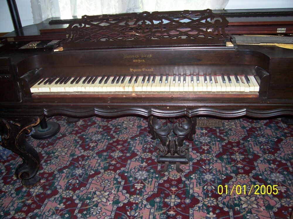 Antique Circa 1842 Haines Brothers Square Grand Piano
