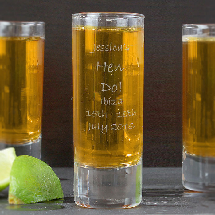Personalised Engraved Message Shot Glass Birthday 18th
