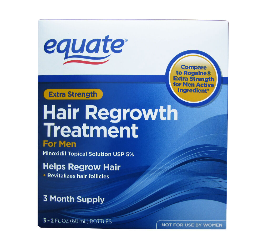 Equate Minoxidil 5 Topical Solution Hair Regrowth For Men