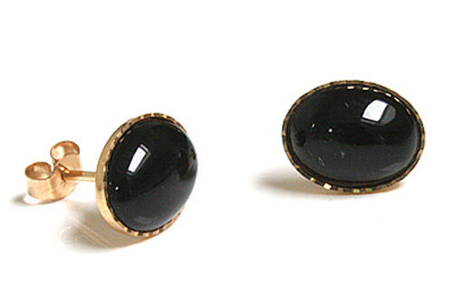 9ct gold black onyx stud earrings gift boxed made in uk ebay