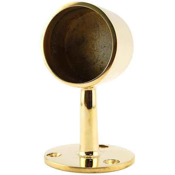 Center post end cap polished brass quot od bar foot