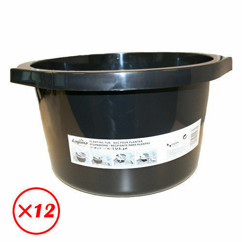 12 laguna small 15 round lily 5 gallon pond planting tub for Plastic pond tub