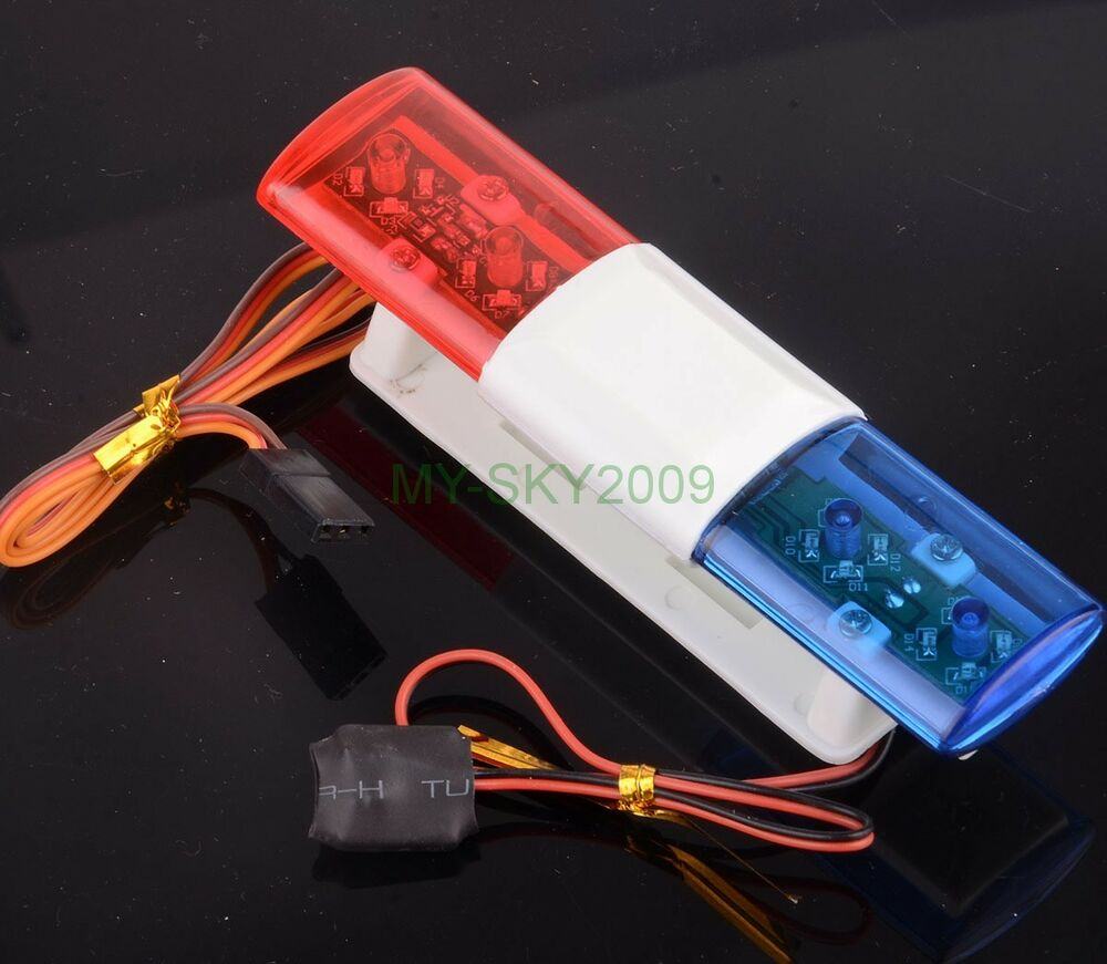 COOL RC Model Car refit Police Night Flash Bright Red Blue ...