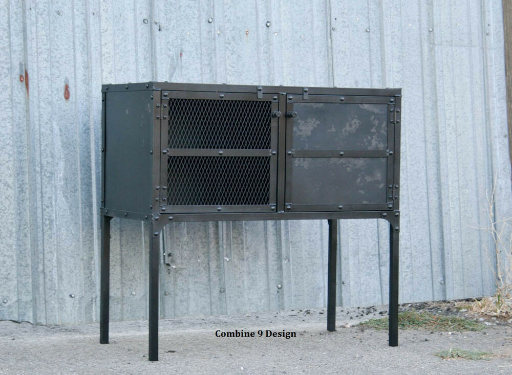 vintage industrial buffet hutch sideboard urban style bar loft decor urban ebay. Black Bedroom Furniture Sets. Home Design Ideas
