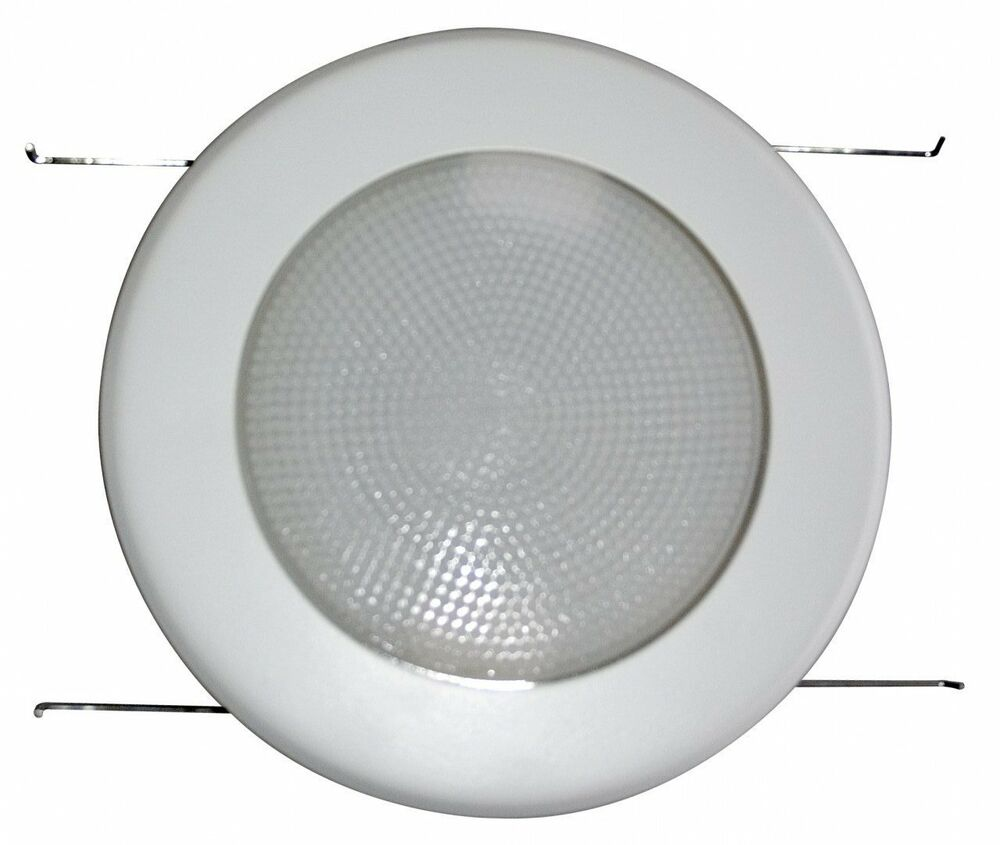 Canned Light Lenses : Quot inch recessed can light metal shower trim frosted milky