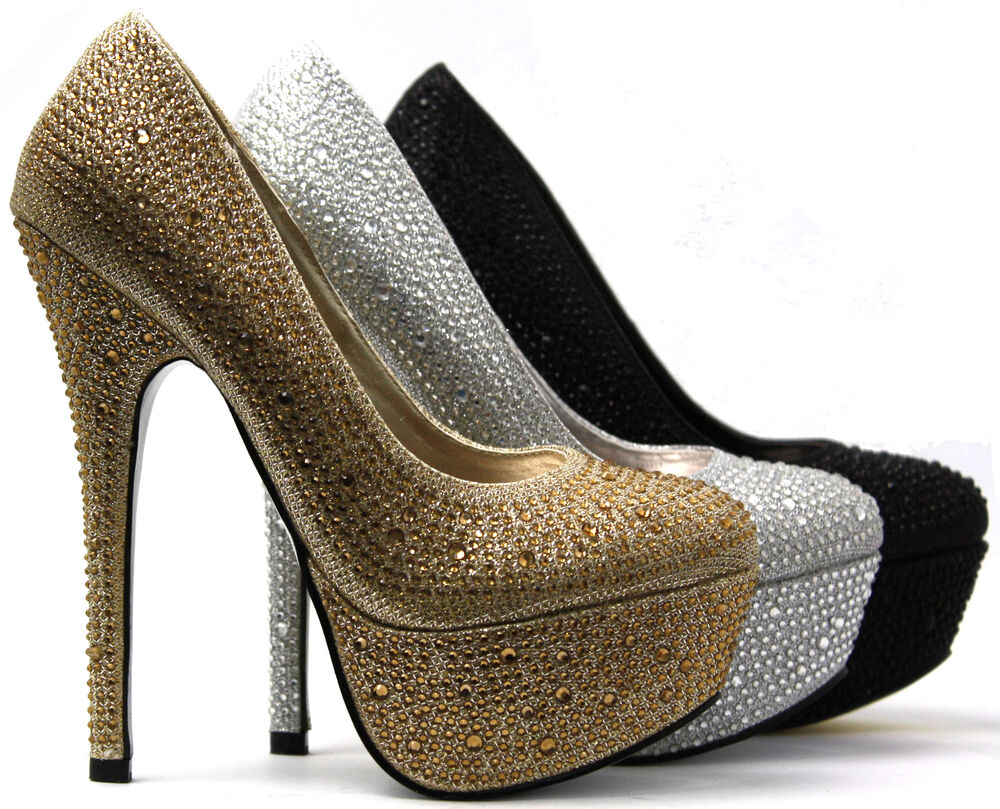 luxus damenschuhe glitzer party plateau pumps high heels sexy peeptoes ebay. Black Bedroom Furniture Sets. Home Design Ideas