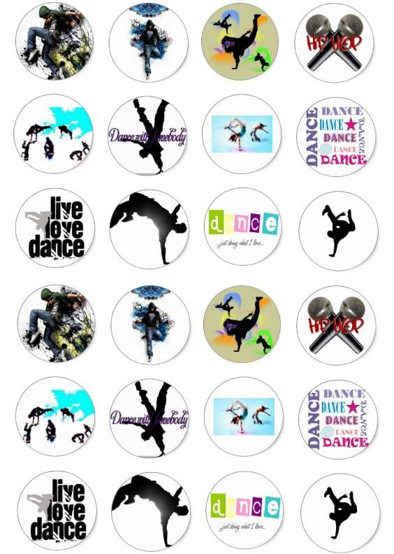 Dance Hiphop Freestyle Cupcake Fairy Cake Wafer Paper