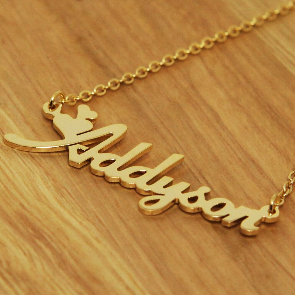 Custom Jewelry: Any Personalized Name Plates Initial Necklace Monogram