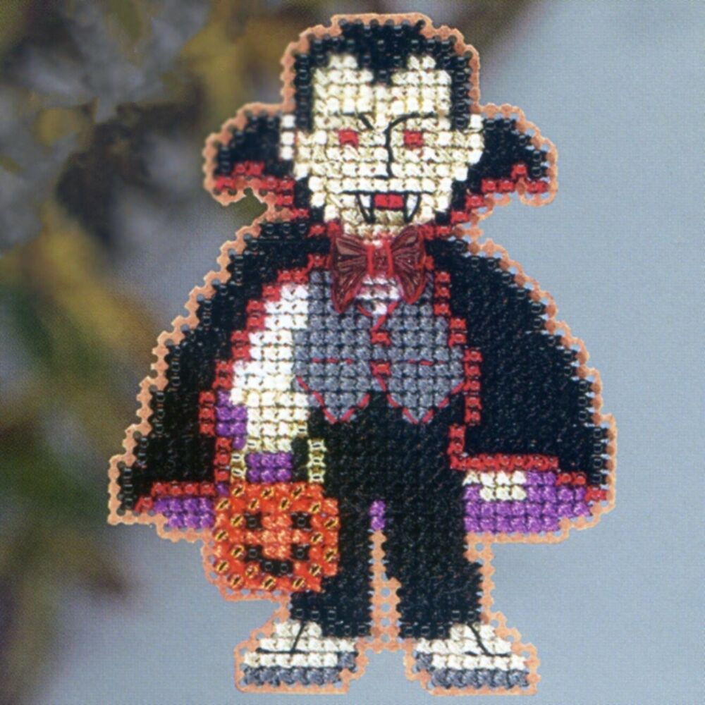 dracula beaded cross stitch kit mill hill 2013 autumn