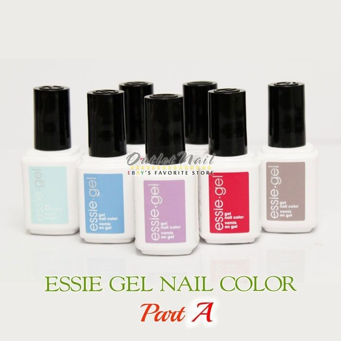 ESSIE Gel Color PART A >Pick ANY Shade Soak Off UV LED Nail Polish Base Top Coat | eBay