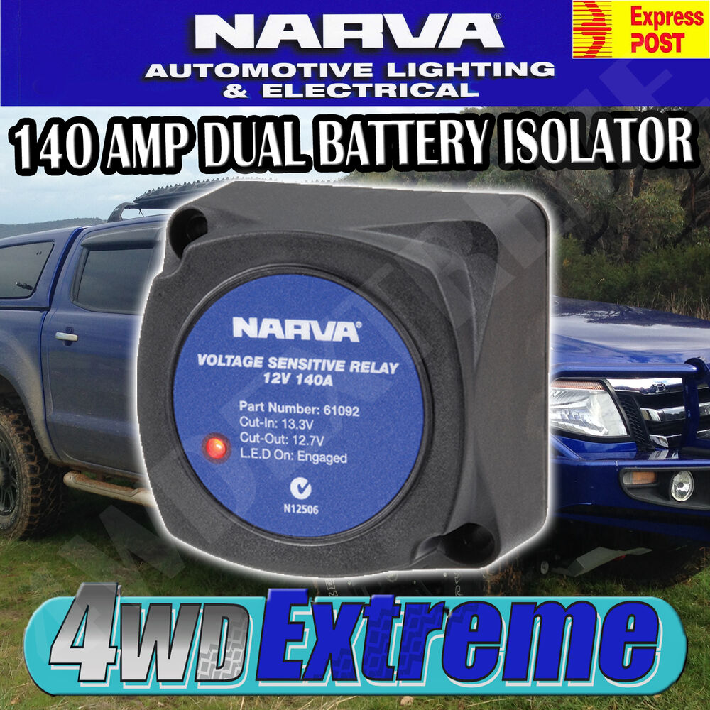 narva 12v 140amp dual battery system voltage sensitive relay vsr