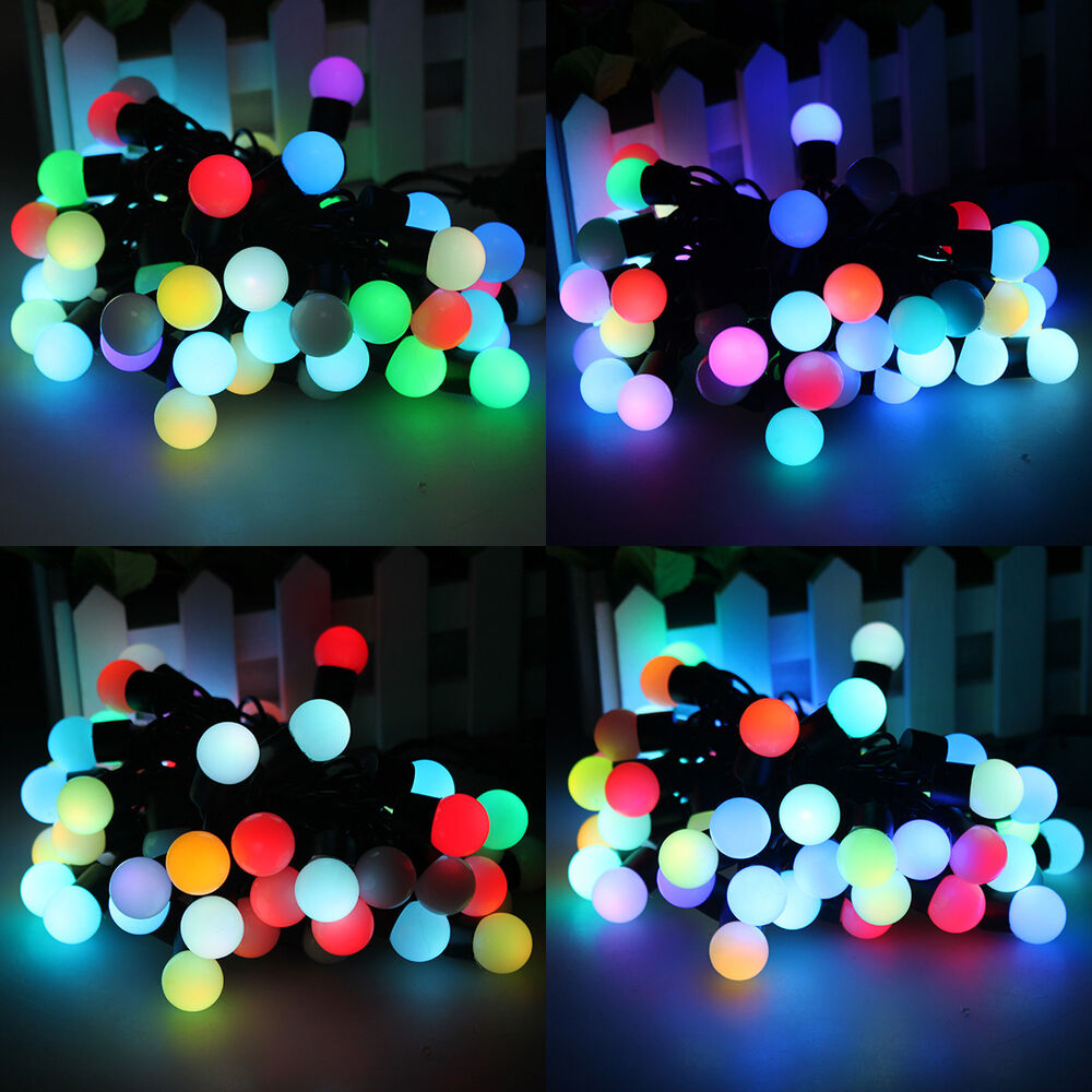 5m 50 ball led rgb color changing string fairy light christmas party waterproof ebay. Black Bedroom Furniture Sets. Home Design Ideas