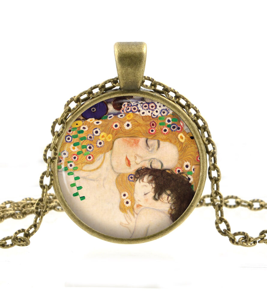 Mother and Child Art Necklace