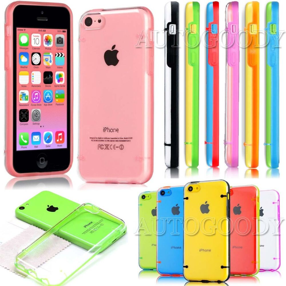 Slim Transparent Crystal Clear Hard TPU Cover Case For ...