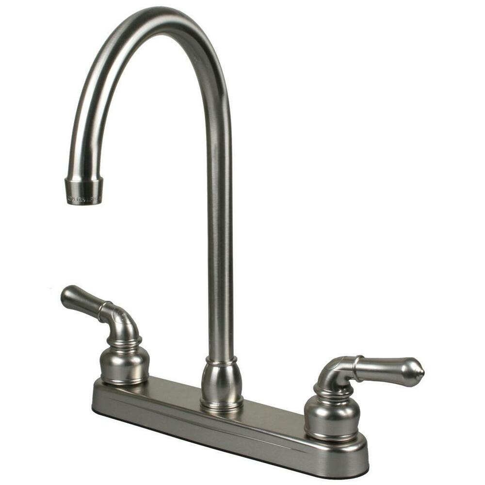 Brushed Nickel Rv Motor And Mobile Home Kitchen Faucet Ebay