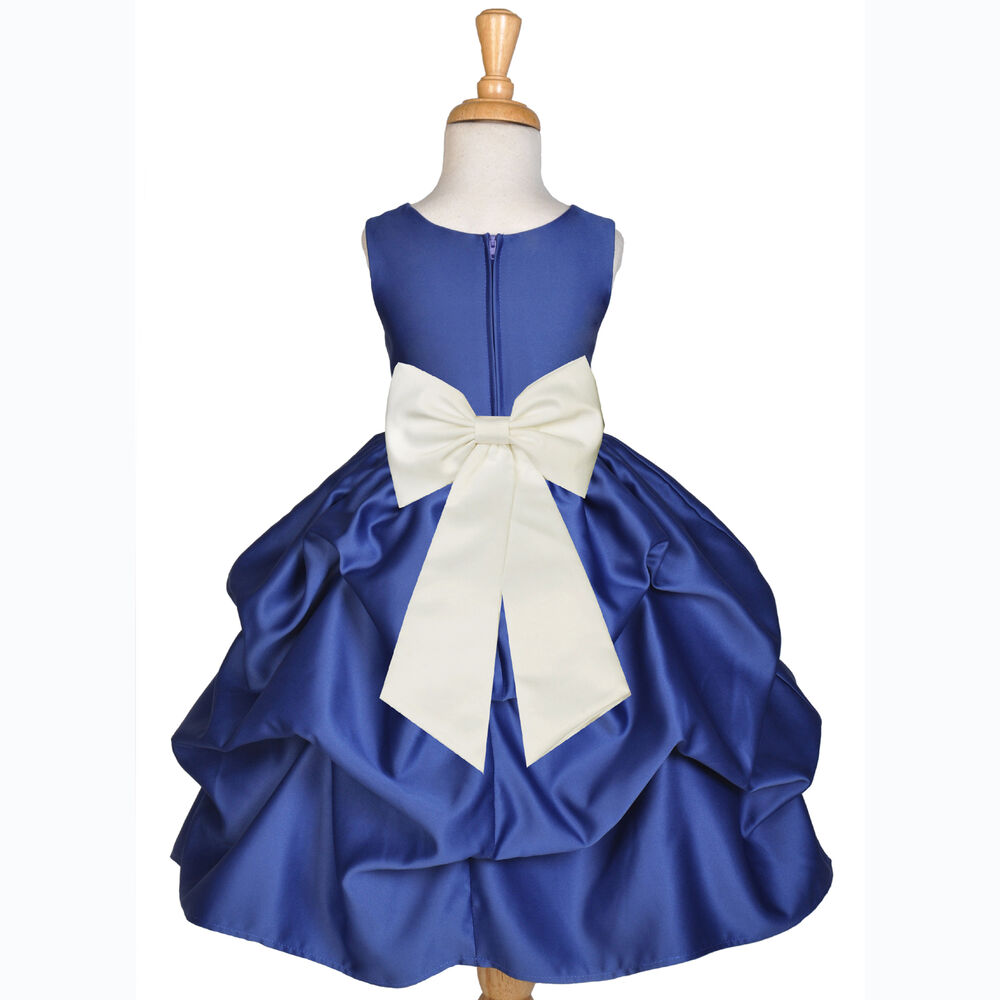 Navy blue flower girl dress wedding bridesmaid pick up 6m for Sell your wedding dress online for free
