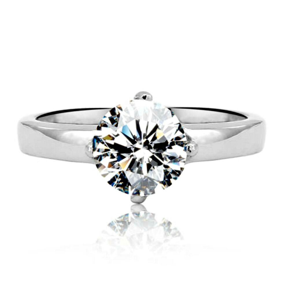 womens 7mm round cz engagement wedding ring size 5 to 9 ebay