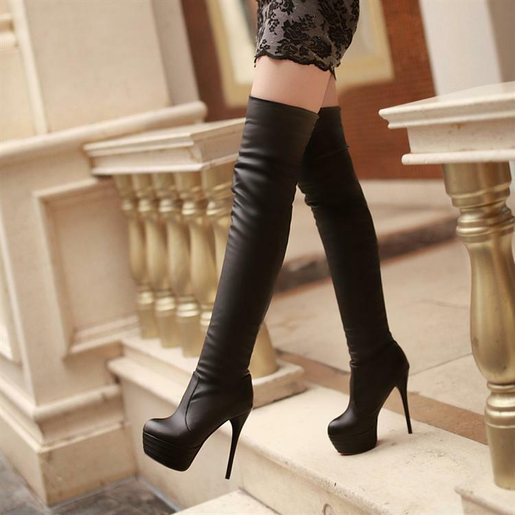 NEW Womens High Christmas Stiletto Heel Over Knee Thigh High Leg ...