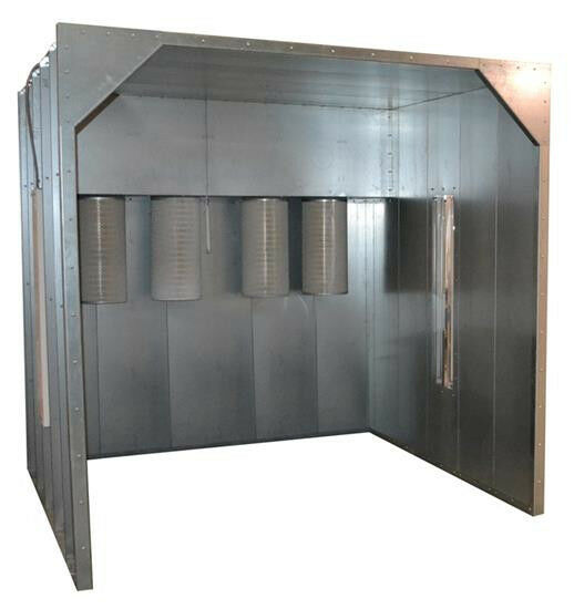8x8x8 kool koat powder coat coating paint spray booth for Powder coating paint booth