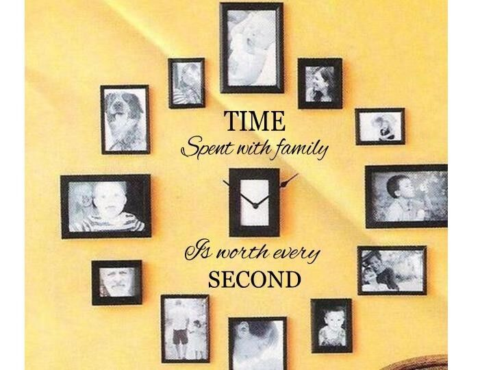 Time spent with family wall art decal quote words for Family wall art