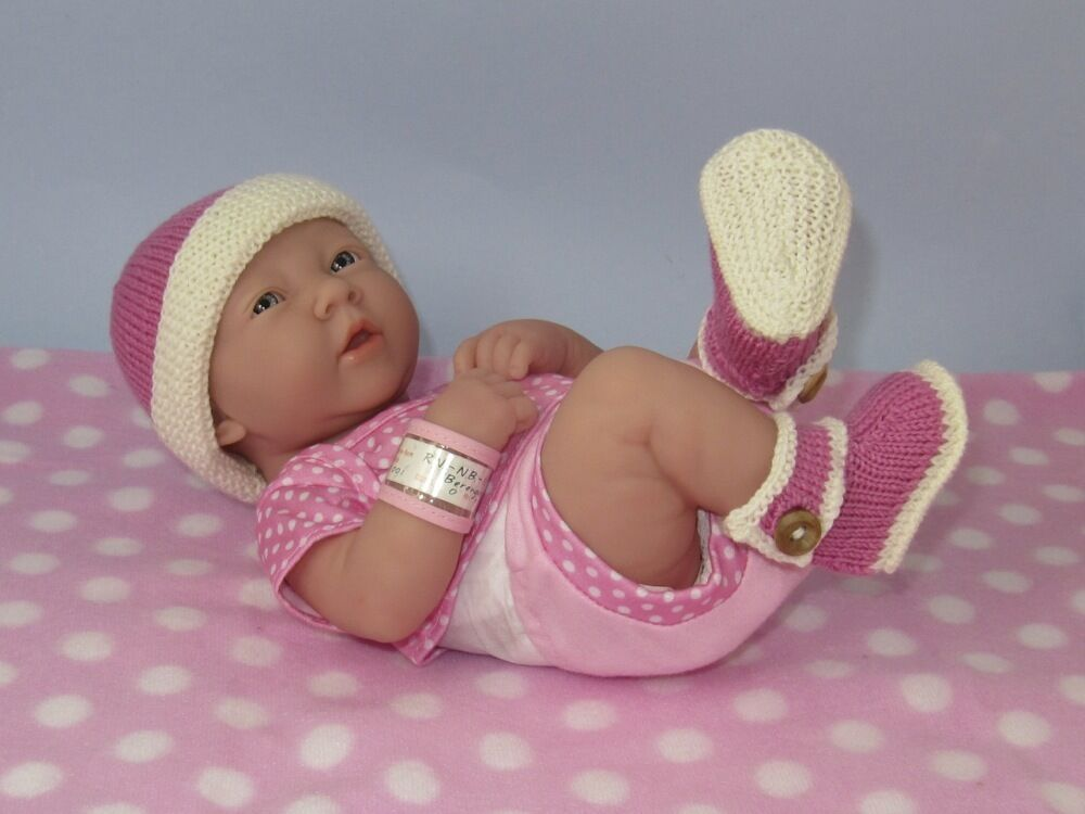 Knitting Pattern Baby Beanie 8 Ply : KNITTING INSTRUCTIONS-PREMATURE BABY 4 PLY BOOTIES AND ...