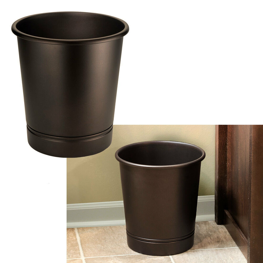 bathroom waste basket trash can bath sink accessories oil On bathroom garbage can