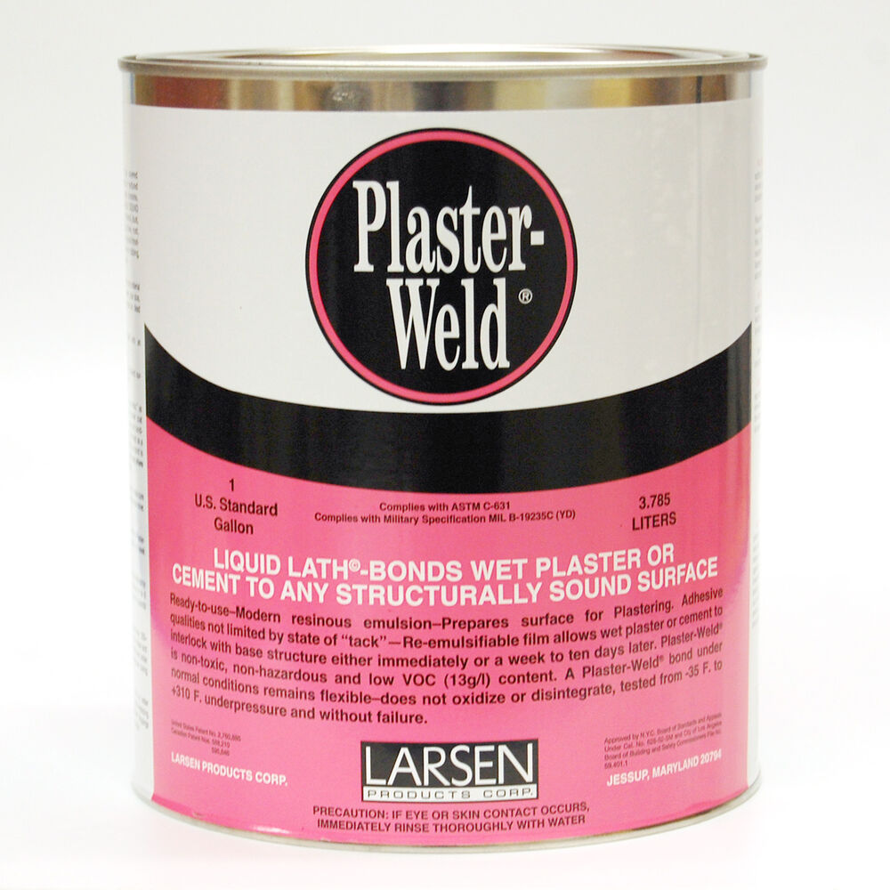 Wall Plaster Products : Larsen plaster weld bonding agent wall repair