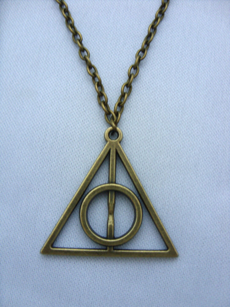 a bronze tone harry potter the deathly hallows charm