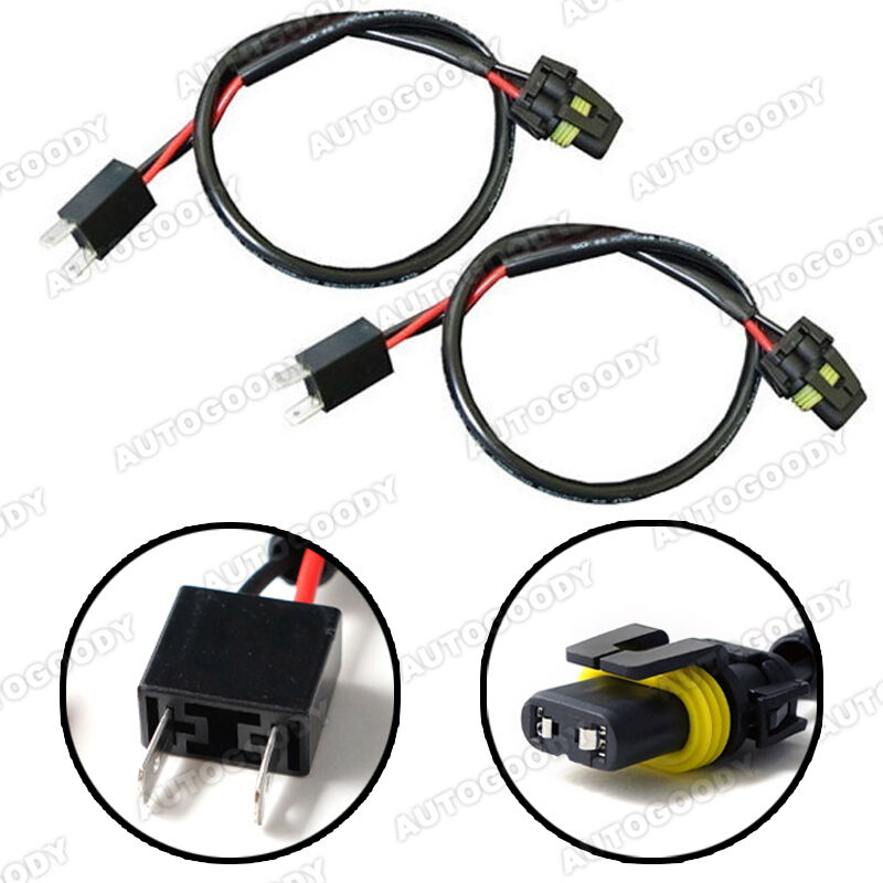 h7 wire harness for hid ballast to stock socket connector ebay