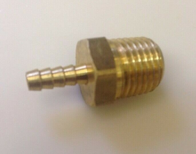 Brass hose fitting adapter quot barb npt male