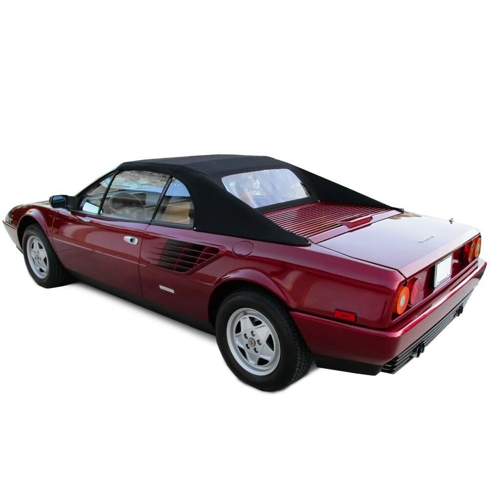 new ferrari mondial convertible soft top with plastic window 1984 1994 ebay. Black Bedroom Furniture Sets. Home Design Ideas