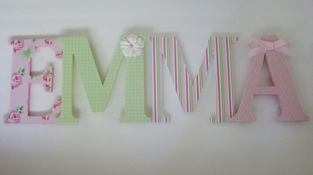 Wood Letters-Nursery Decor- ANY NAME- Custom Made To Your