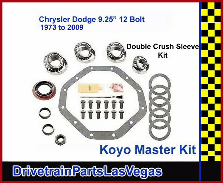 "Koyo Premium Master Bearing Rebuild Overhaul Kit Chrysler Dodge 9.25"" 12 Bolt 