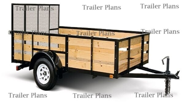 New 3 SetsPlans For 8x20 Car Trailer 8x18 Utility Trailer