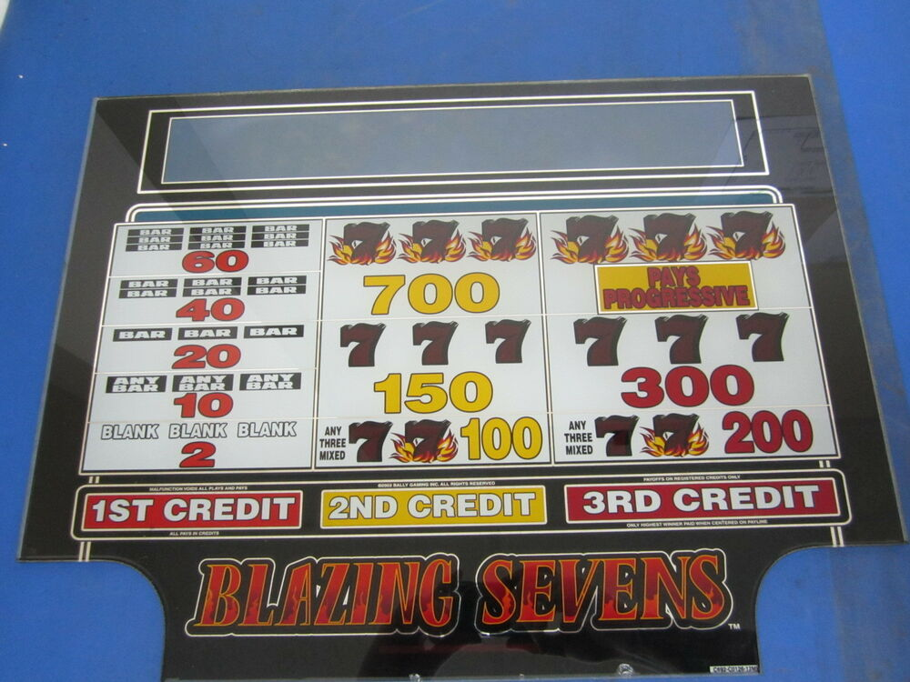 bally blazing sevens slot machine