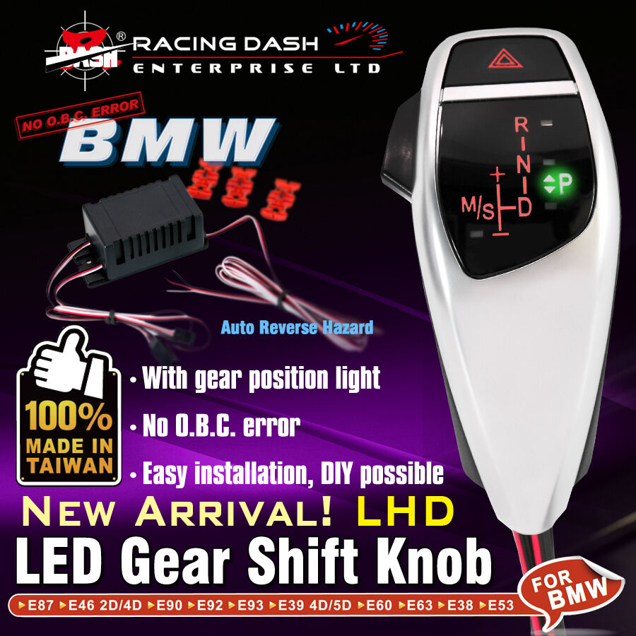 Led Shift Gear Knob With Auto Reverse Hazard Lhd For Bmw