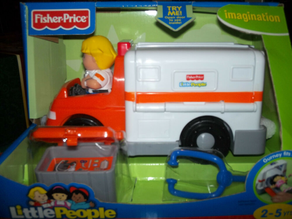 new fisher price little people rescue medic ambulance new. Black Bedroom Furniture Sets. Home Design Ideas