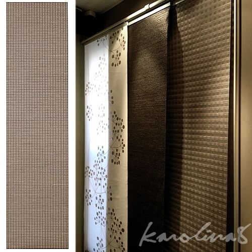 ikea ingamaj gray tan brown check window panel curtain kvartal system rail new ebay. Black Bedroom Furniture Sets. Home Design Ideas