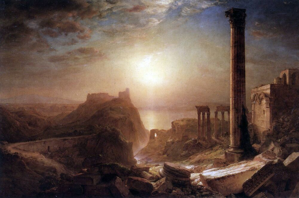 Syria on the sea by frederick edwin church giclee fine art for Frederick church paintings
