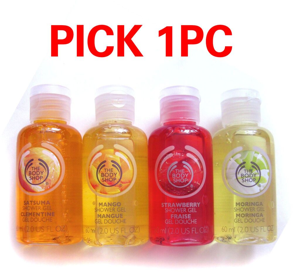 1pc the body shop travel size shower gel strawberry - The body shop mango shower gel ...