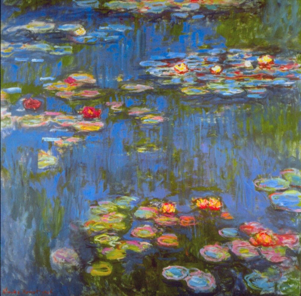 Water lilies and Japanese Bridge Claude Monet Painting