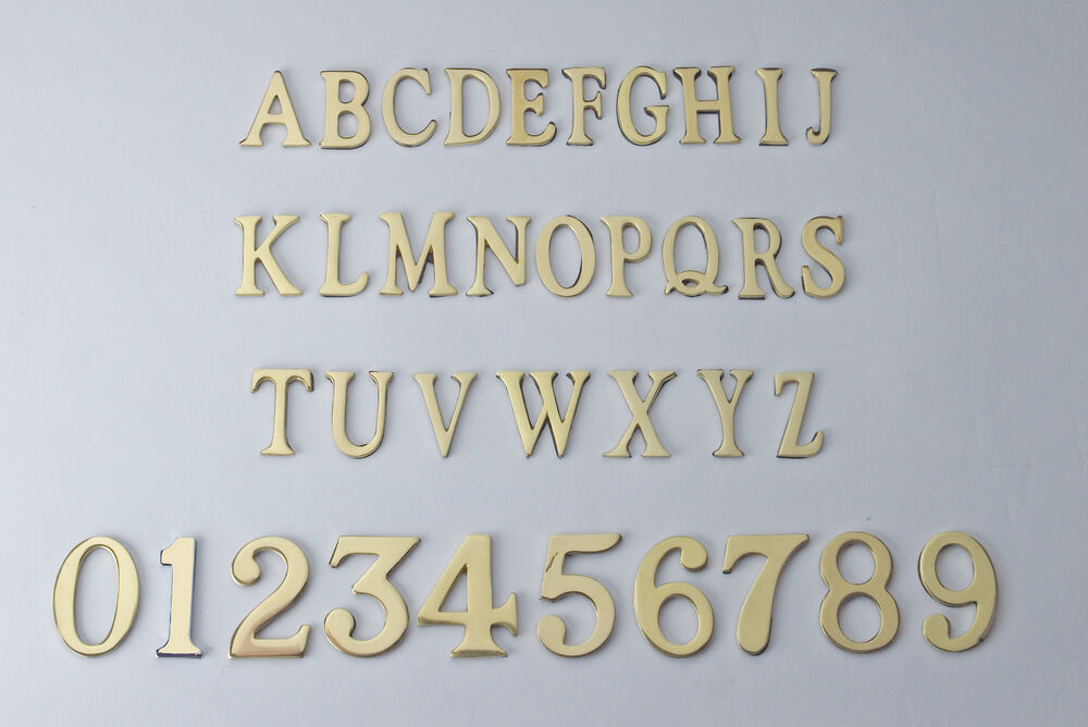 Polished Brass Letters Free