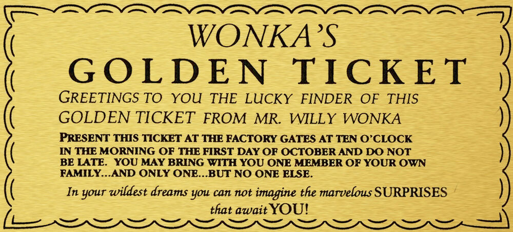 Sassy image with willy wonka golden ticket printable