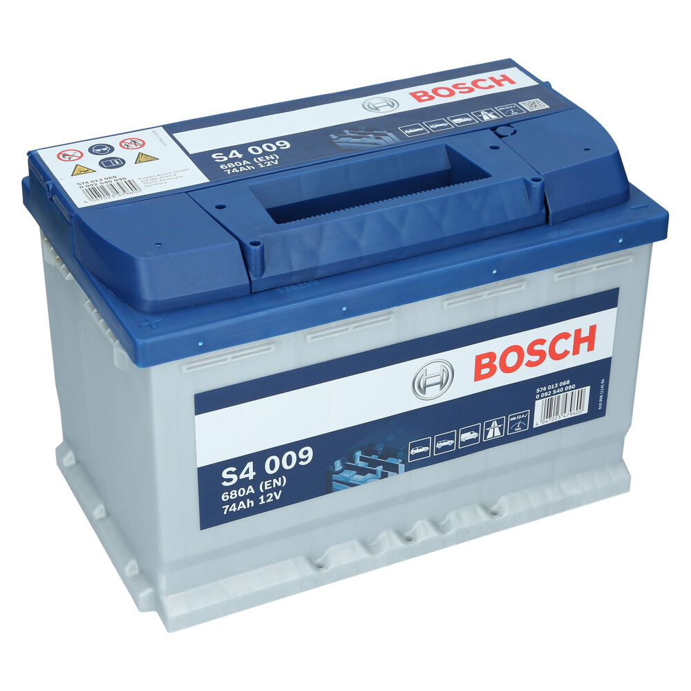 pkw autobatterie 12 volt 74 ah bosch s4 009. Black Bedroom Furniture Sets. Home Design Ideas