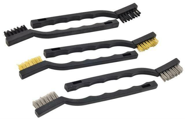 6pc wire brush set steel brass nylon heads for diy car detailing and cleaning ebay. Black Bedroom Furniture Sets. Home Design Ideas