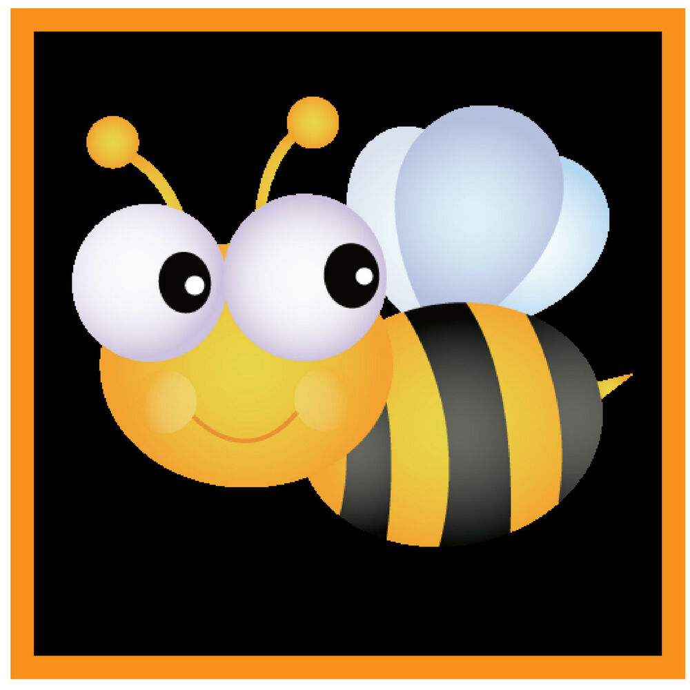 Cute bumble bee fun car window sticker 1 free for Bumble bee mural