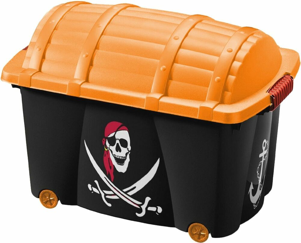 Childrens Jumbo Bedroom Room Tidy Toy Storage Chest Box Trunk: LARGE KIDS BOYS PIRATE TREASURE CHEST BEDROOM STORAGE TOY